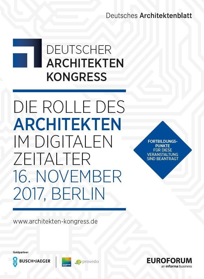 Deutscher Architektenkongress 2017