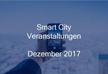 Smart City Events Deutschland Stadtentwicklung Veranstaltungen Berlin Hamburg München Dezember 2017
