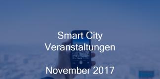 Smart City Events Germany Deutschland Veranstaltungen Berlin Hamburg München November 2017