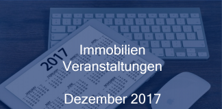 Veranstaltungen der Immobilienbranche Dezember 2017 Immobilien Events