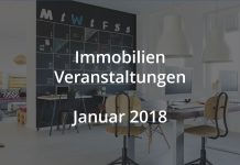 Immobilien Veranstaltungen Januar 2018