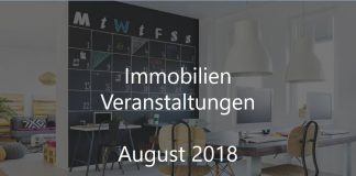Immobilien Event August 2018 Veranstaltung Berlin Stuttgart München Köln Frankfurt