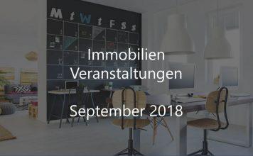 Immobilien Events September 2018 Veranstaltung