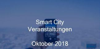 Smart City Veranstaltungen Oktober 2018