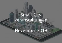 Smart City November 2019 Veranstaltungen Stadt Digtal Events Gebaute Welt